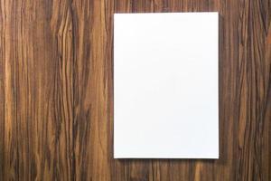 Seite auf einem Schreibtisch foto
