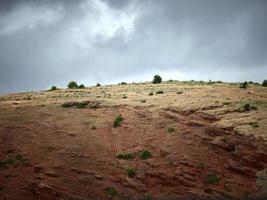 schöne landschaft auf dem weg nach marrakesch foto