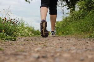 Läufer auf Fußweg
