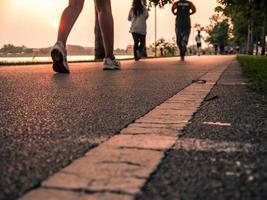 Laufen Nahaufnahme auf Schuh foto