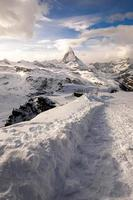 erstaunliches Matterhorn mit Zermattstadt, Schweiz