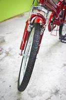 Fahrradreifen und Rad. foto