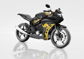 Motorrad Motorrad Fahrradfahrer zeitgenössische schwarze Konzept
