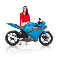 Motorrad Motorrad Fahrrad Roadster Transportkonzept foto