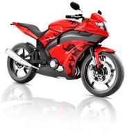 Motorrad Motorrad Fahrrad Fahrer zeitgenössisches rotes Konzept foto