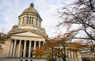 Capitol Legislative Gebäude Steinsäule Front Olympia Washington foto