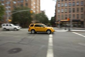 New York City Taxi verschwommen foto