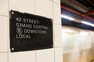 42. st. U-Bahnstation, New York foto