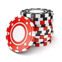 schwarze und rote Casino-Token foto