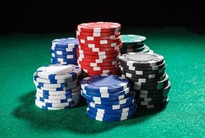 Chips für Poker foto