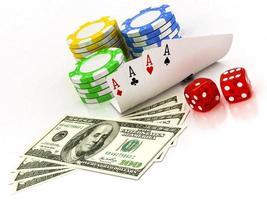 Dollar, Chips und Karten