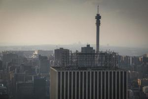 Blick über die Innenstadt von Johannesburg in Südafrika foto