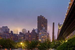 Queen Bridge, Skyline von New York foto
