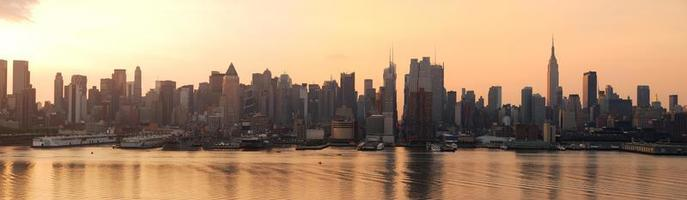 New York City Sonnenaufgang Panorama foto