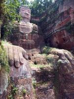 Leshan Grand Riesen Buddha Statue foto