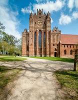 Backstein Gothic Chorin Abtei in Deutschland foto