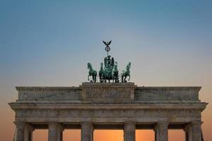 Brandenburger Tor, Berliner Symbol - Wahrzeichen foto
