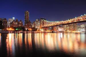 Queensboro Bridge und Manhattan foto