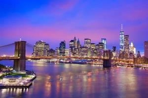 New York City Nachtansicht foto