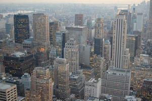 Midtown Manhattan in der Abenddämmerung foto