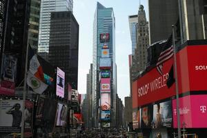 Times Square am Broadway in Manhattan, New York foto