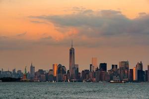 Skyline der Innenstadt von Manhattan foto