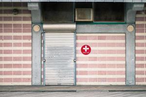 Erste-Hilfe-Gebäude. Coney Island. foto