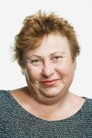 Porträt einer reifen erwachsenen Frau foto