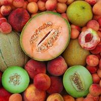 Melone Aprikosenpfirsich foto