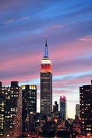 Empire State Building in der Nacht foto