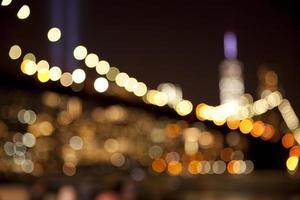 unscharfe Bokeh-Lichter an der Brooklyn Bridge foto