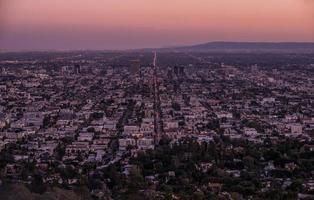 Skyline von Los Angeles foto
