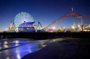 Santa Monica Pier in der Nacht