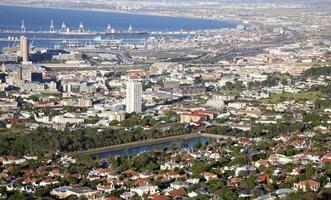 Luftaufnahme von Kapstadt, Südafrika foto