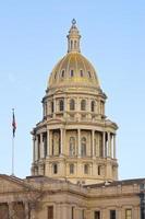 Sonnenuntergang Licht auf Colorado USA Capitol foto