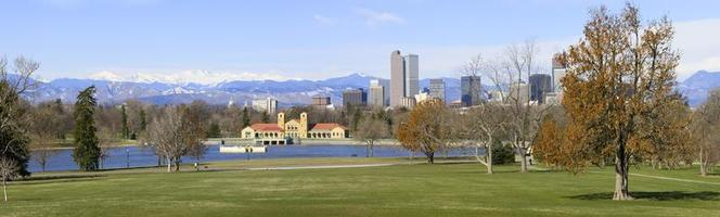 Panorama Denver Skyline April 2010