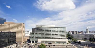 Wolkenkratzer in Denver foto