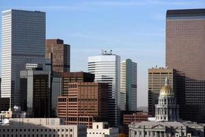 Skyline der Innenstadt von Denver foto