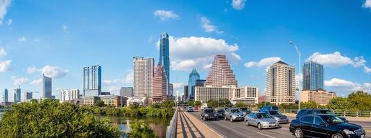 Blick auf Austin, Innenstadt Skyline foto