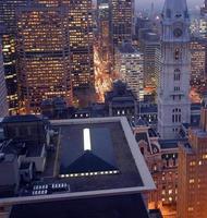 Stadt in der Nacht foto
