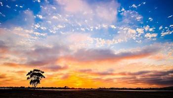 Mission Bay Sonnenuntergang. San Diego, Kalifornien USA. foto