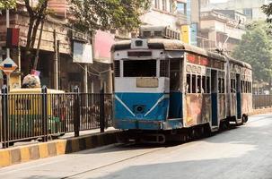 Heritage Straßenbahnen von Kalkutta foto