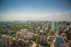 Santiago Chile Skayline unfocus foto
