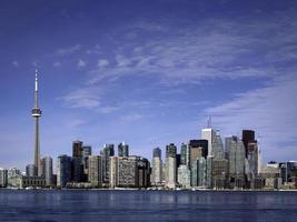 Die Innenstadt von Toronto zeigt den CN Tower foto