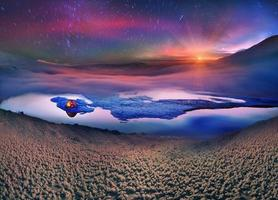 Touristen verbringen die Nacht auf dem Eis foto