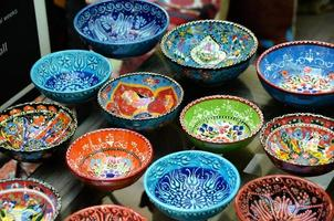 klassische türkische Keramik auf dem Markt