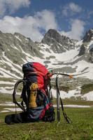 Ausrüstungen des Kletterers foto