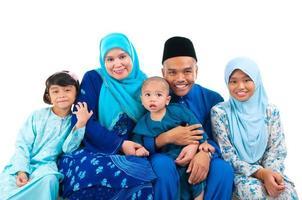 malaiische Familie foto