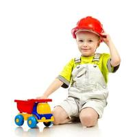 Kind im Helm foto