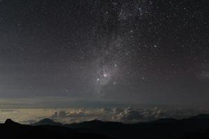 schöner nachthimmel mit sternen und milchstraße.merida, venezuela